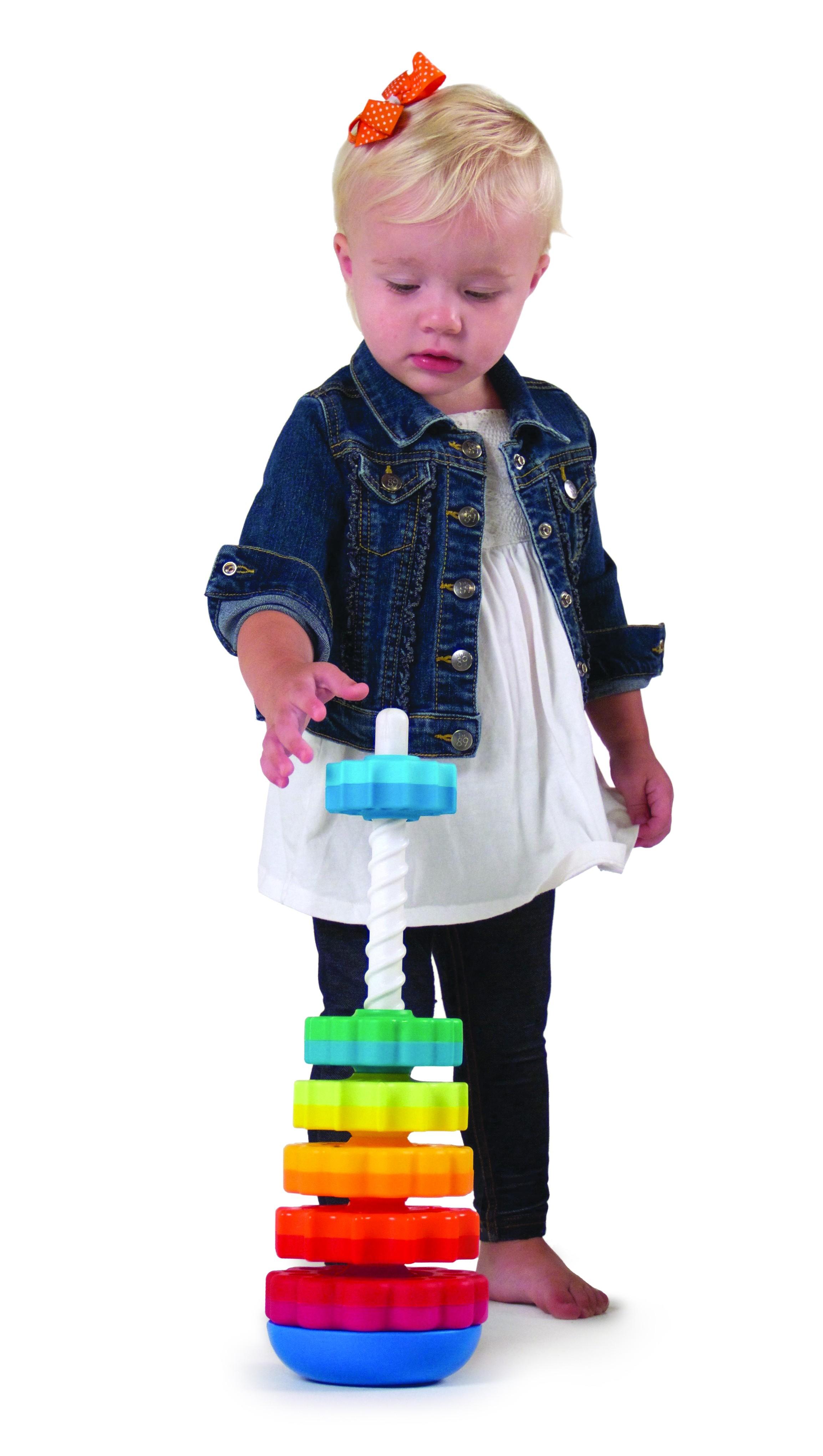 Piramida cu rotite pentru bebelusi - Fat Brain Toys 9