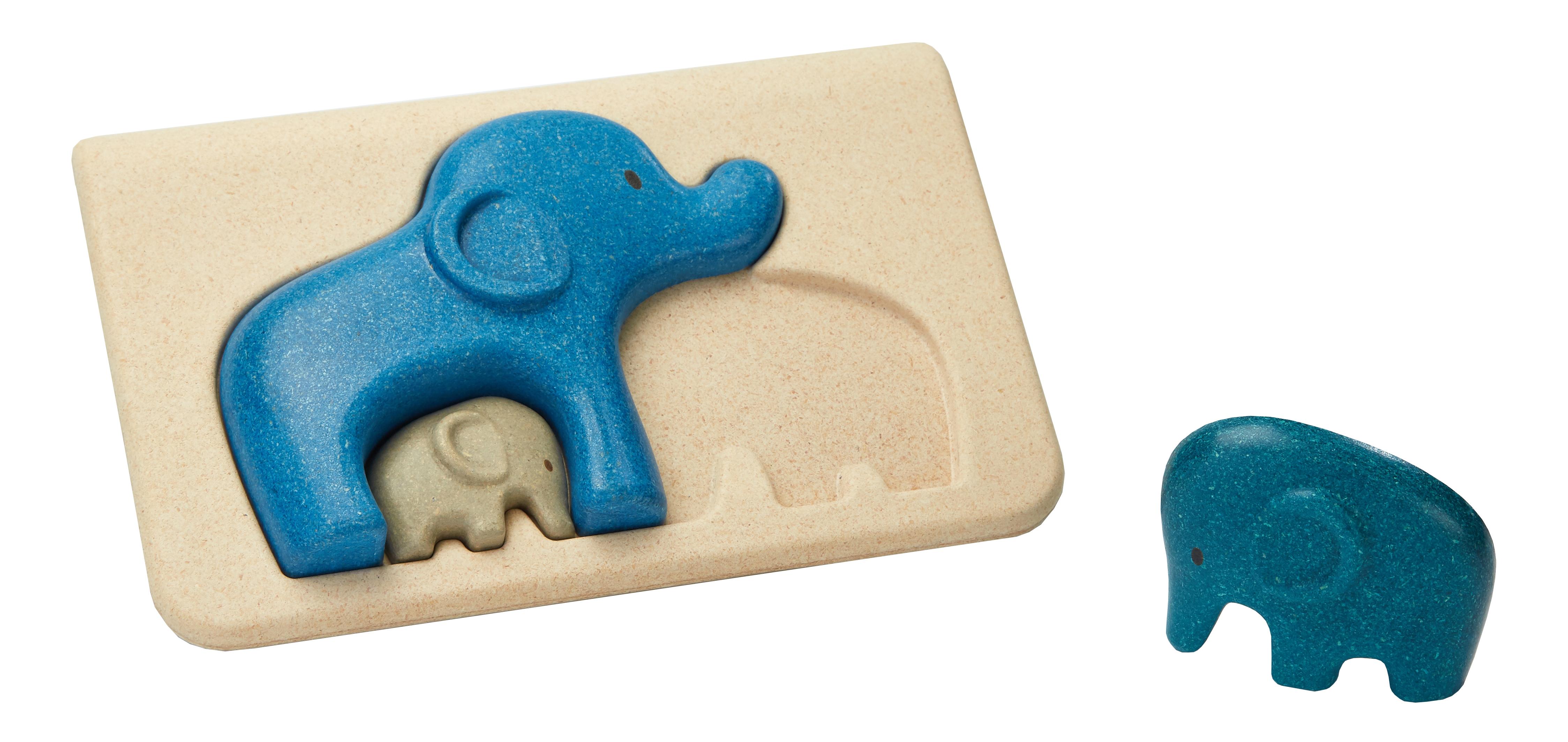 Puzzle din lemn cu elefanti 0